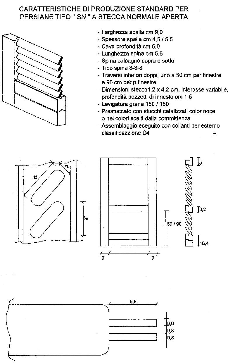 V8 TRADING - Persiane in legno